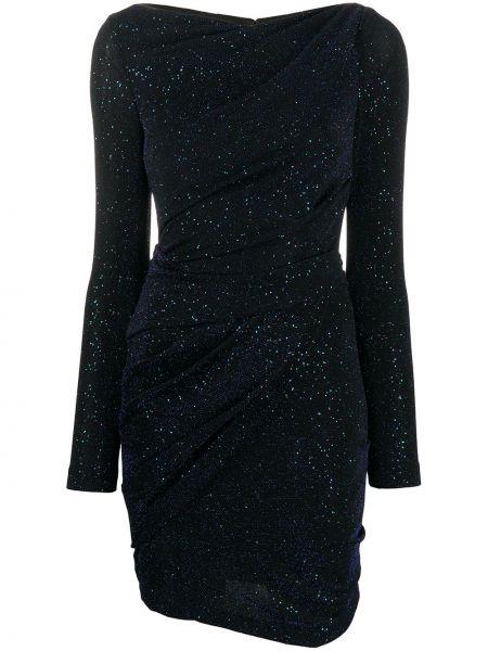 С рукавами синее нейлоновое платье с рукавами Talbot Runhof