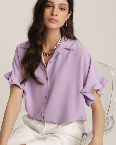 Fioletowa koszula materiałowa Renee