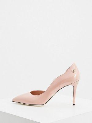 Кожаные туфли - розовые Pollini