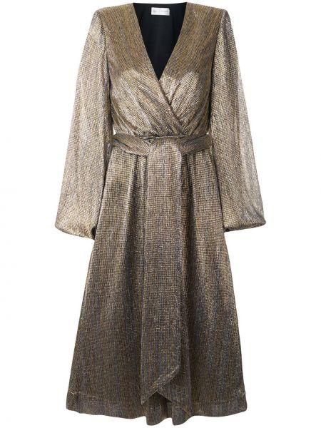 Платье миди со вставками с V-образным вырезом Rebecca Vallance