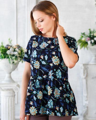 Блузка с коротким рукавом из крепа летняя Victoria Filippova
