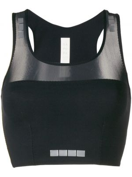Черный нейлоновый спортивный топ Sàpopa