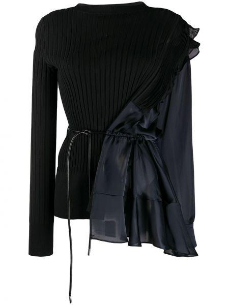 Bluzka z długim rękawem asymetryczny długa Sacai