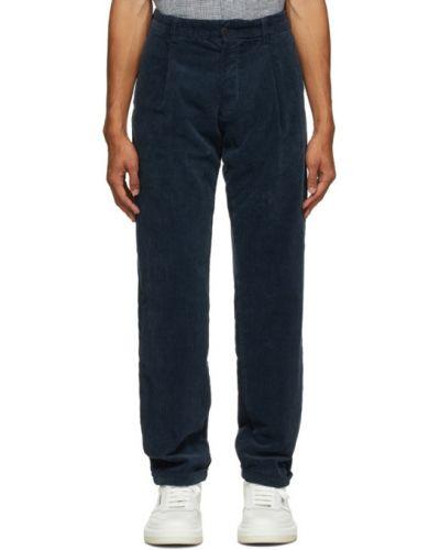 Брючные черные прямые брюки стрейч с манжетами Doppiaa