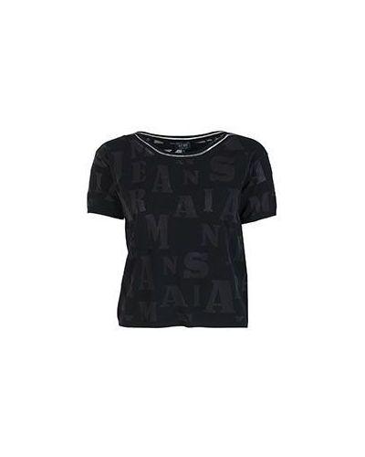 Черная футболка из вискозы Armani Jeans