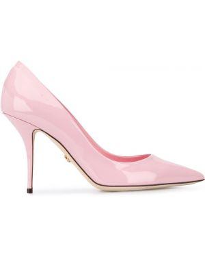 Туфли на каблуке кожаные на высоком каблуке Dolce & Gabbana