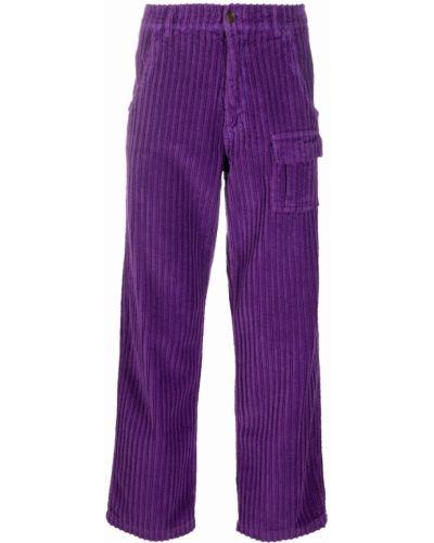 Fioletowe spodnie bawełniane Erl