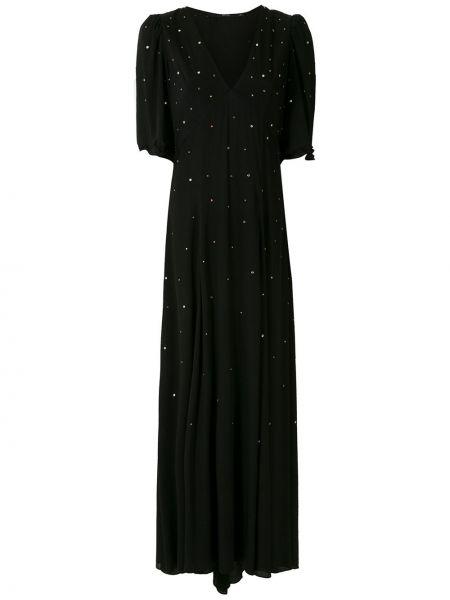 Платье мини короткое - черное Eva
