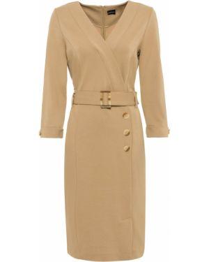 Платье с поясом футляр с запахом Bonprix