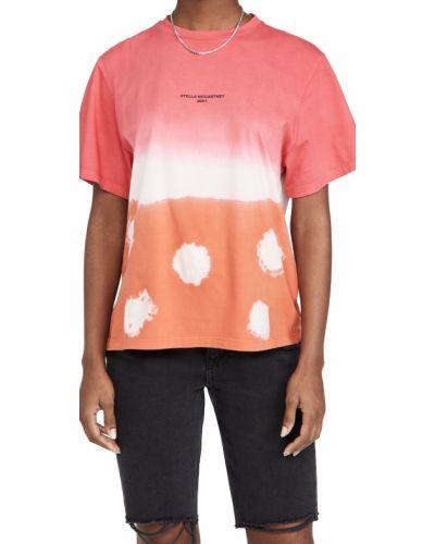 Хлопковая футболка с короткими рукавами с декольте Stella Mccartney