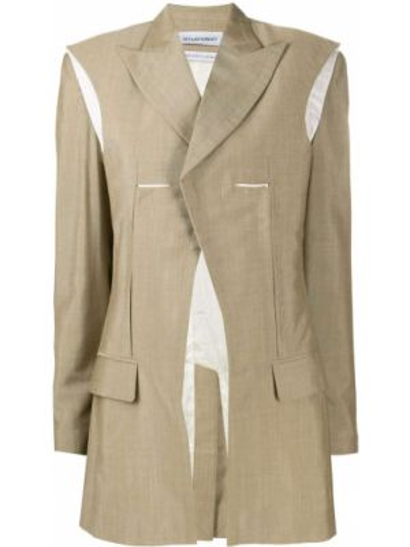 С рукавами шерстяная куртка с лацканами с карманами Situationist