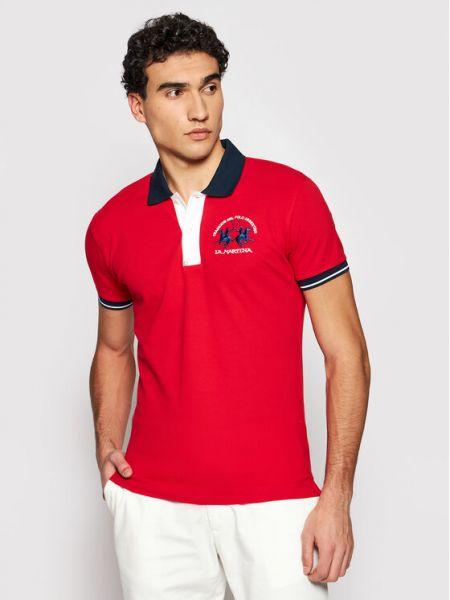 Czerwona koszulka La Martina