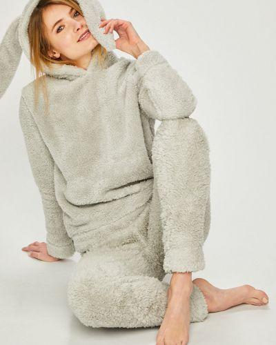 Пижама с брюками с капюшоном серая Answear