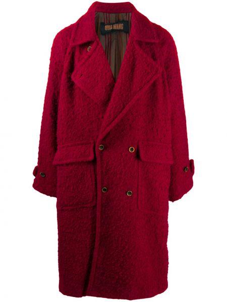 Красное шерстяное пальто на пуговицах Uma Wang