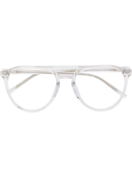 Biały oprawka do okularów okrągły wytłoczony za pełne Dkny