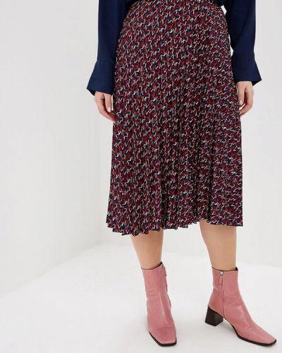 Плиссированная юбка синяя фиолетовый Violeta By Mango