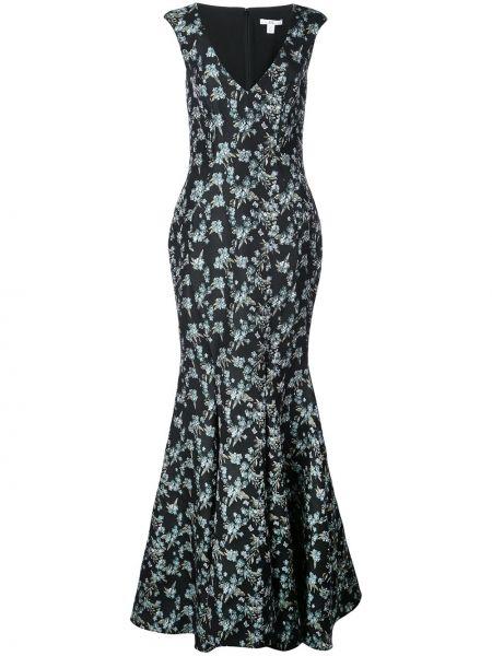 Расклешенное приталенное платье с V-образным вырезом на молнии Zac Zac Posen