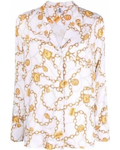 Biały złoty łańcuszek Moschino