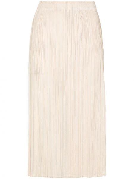С завышенной талией юбка миди с запахом с разрезом с поясом Pleats Please Issey Miyake