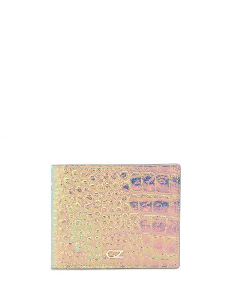Portfel skórzany - różowy Giuseppe Zanotti