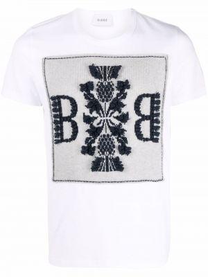 Biała t-shirt z printem Barrie