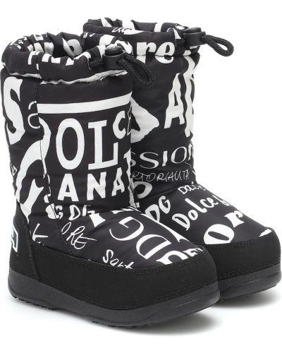 Włókienniczy biały buty Dolce & Gabbana Kids
