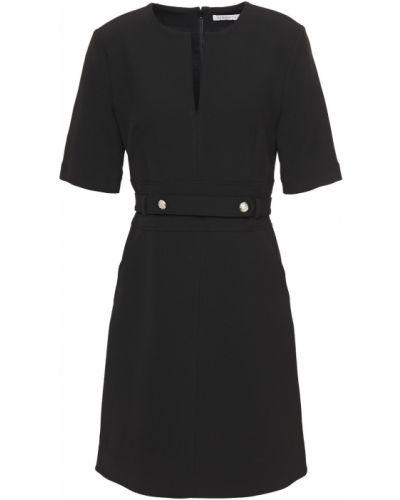 Хлопковое черное платье мини с подкладкой Veronica Beard