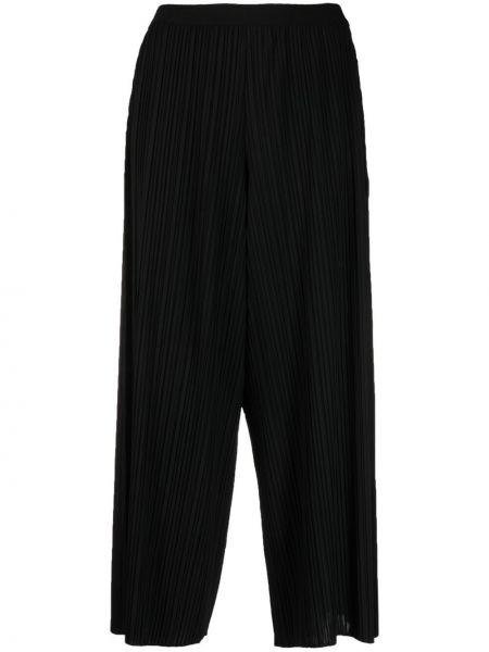 Хлопковые черные укороченные брюки с поясом Fabiana Filippi