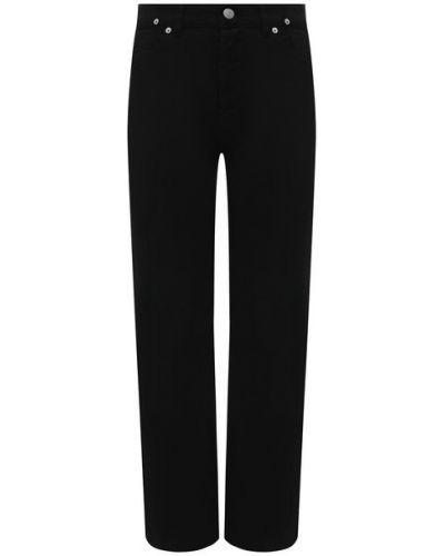 Хлопковые джинсы - черные Dries Van Noten