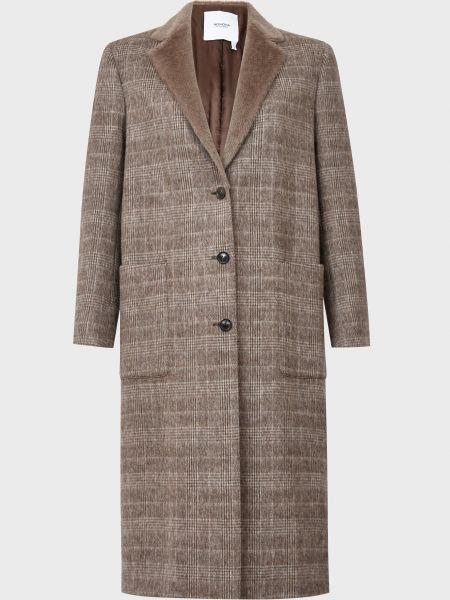 Коричневое кашемировое пальто на пуговицах Agnona