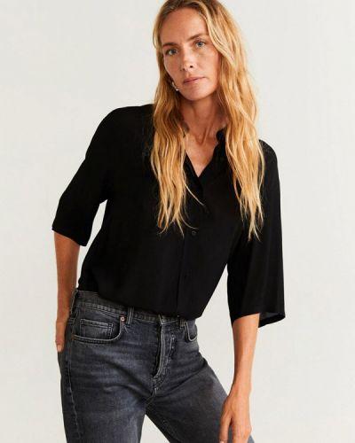 Блузка с длинным рукавом турецкий черная Mango