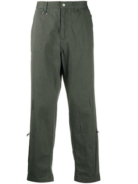Spodnie o prostym kroju z suwakami z paskiem Undercover