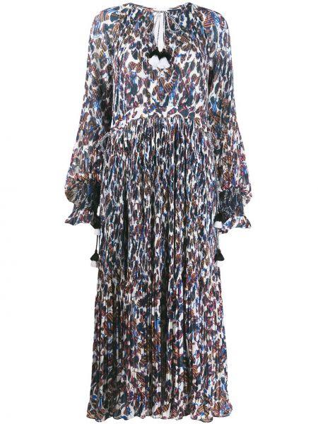 Платье макси с цветочным принтом с V-образным вырезом Derek Lam 10 Crosby