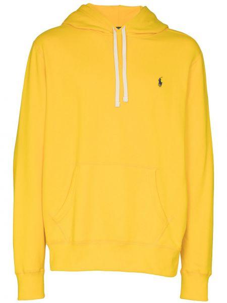 Bawełna żółty koszulka polo z haftem z długimi rękawami Polo Ralph Lauren