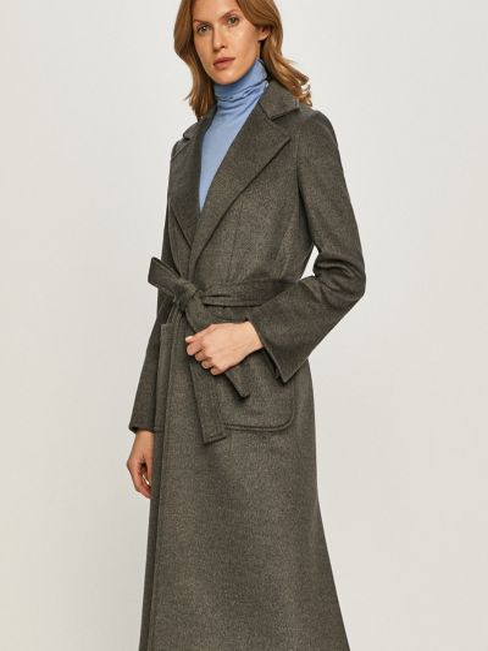 Шерстяная серая с рукавами куртка Max&co