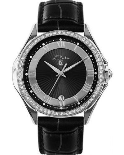 Часы на кожаном ремешке кварцевые водонепроницаемые L Duchen