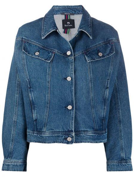 Синяя джинсовая куртка с манжетами Ps Paul Smith