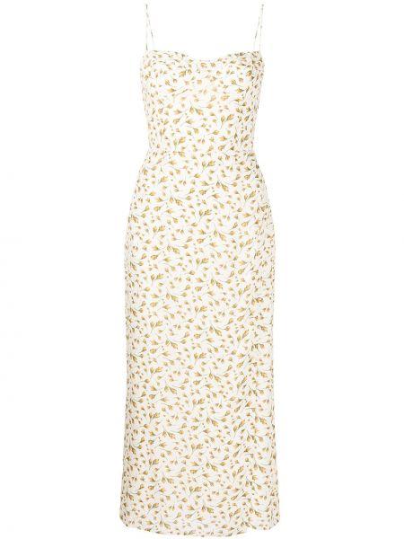 Платье в цветочный принт - белое Reformation