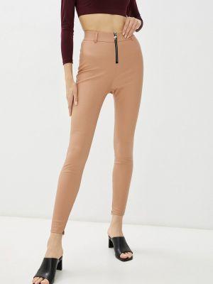 Кожаные коричневые брюки Teratai