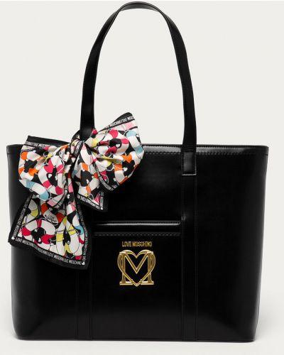 Czarna torebka duża Love Moschino