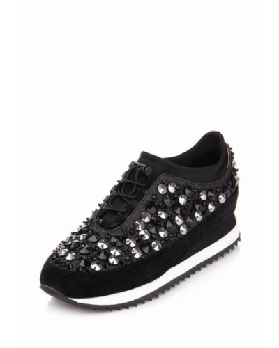 Черные кроссовки замшевые Ditto
