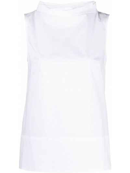 Белая блузка без рукавов с вырезом Antonelli