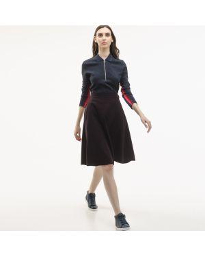Платье бордовый из вискозы Lacoste