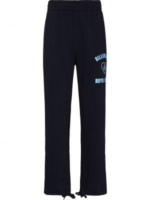 Синие хлопковые брюки Billionaire Boys Club
