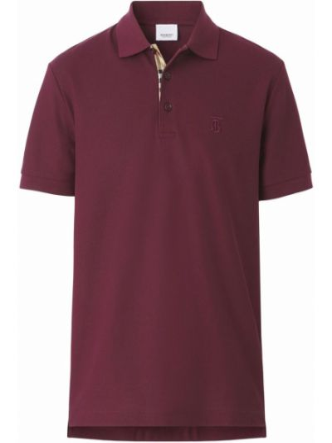 Koszula krótki rękaw - fioletowa Burberry