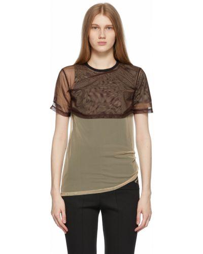 T-shirt bawełniany z haftem krótki rękaw Ader Error