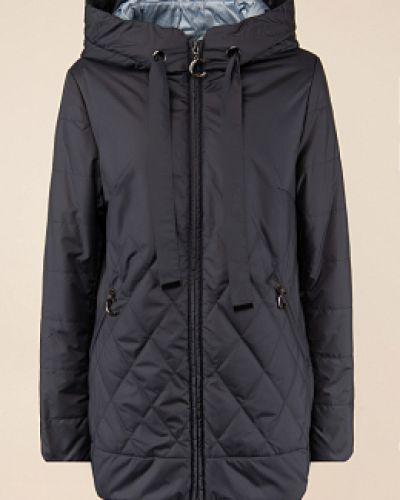 Прямая утепленная синяя куртка Alyaska