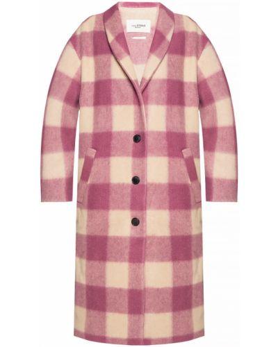Długi płaszcz - różowy Isabel Marant Etoile