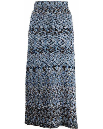 Niebieska lniana spódnica Altuzarra