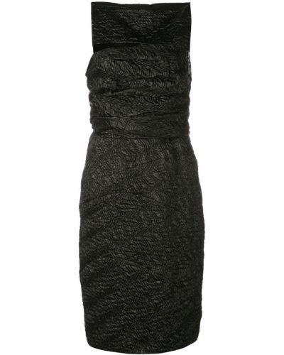 Зауженное платье миди - черное Narciso Rodriguez